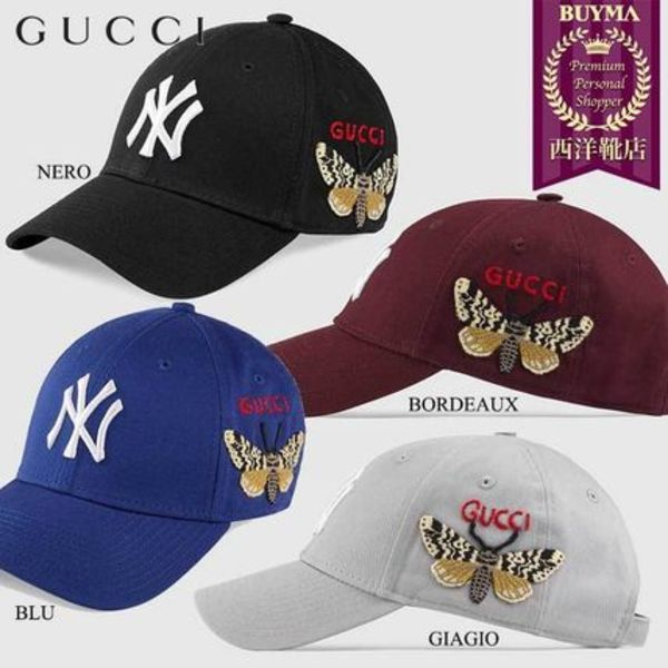 【正規品保証】GUCCI★18秋冬★BASEBALL CAP W/NY YANKEES PATCH