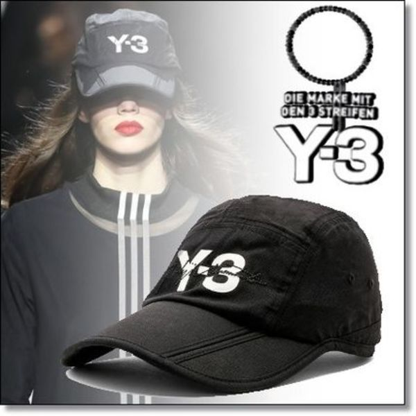New◆Y-3◆Runway登場人気  SIGNATURE ロゴ FOLDABLE CAP Black