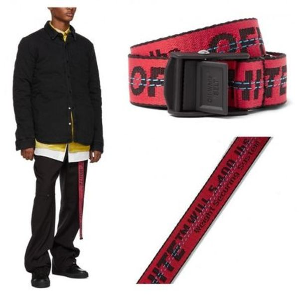 OFF-WHITE(送料/関税込)Red Canvas Belt