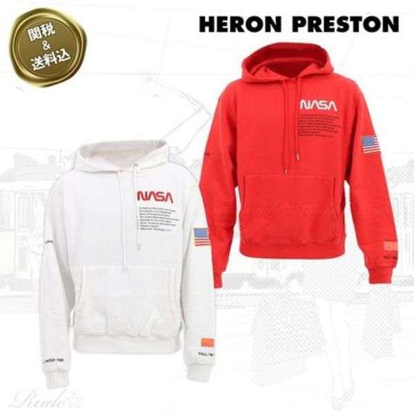 【Heron Preston】☆NASA フーディー☆