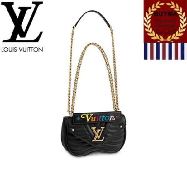 【Louis Vuitton】New Wave レザー チェーンバッグPM ブラック