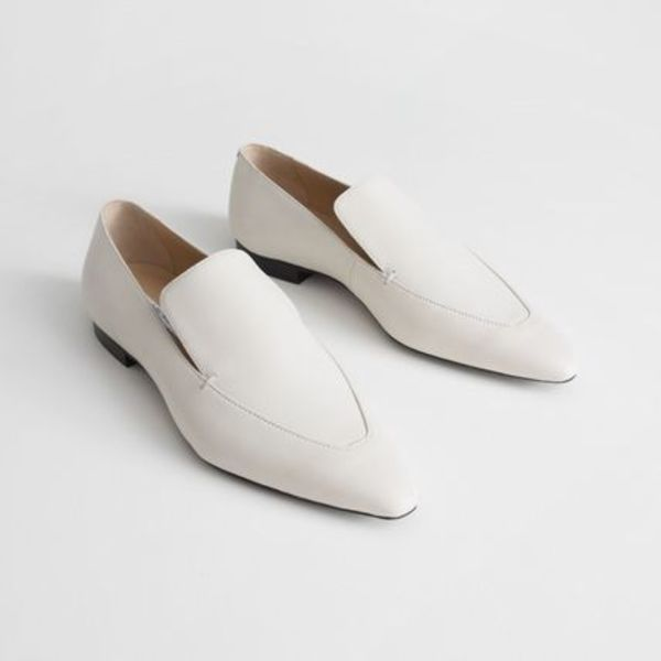 ★&Other Stories★Pointed Leather Loafers★ホワイト★
