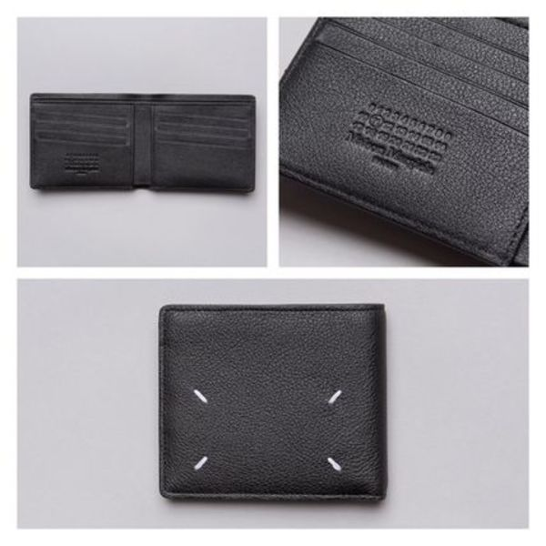 世界が注目!!Maison Margiela Calf Leather Bi-Fold Wallet