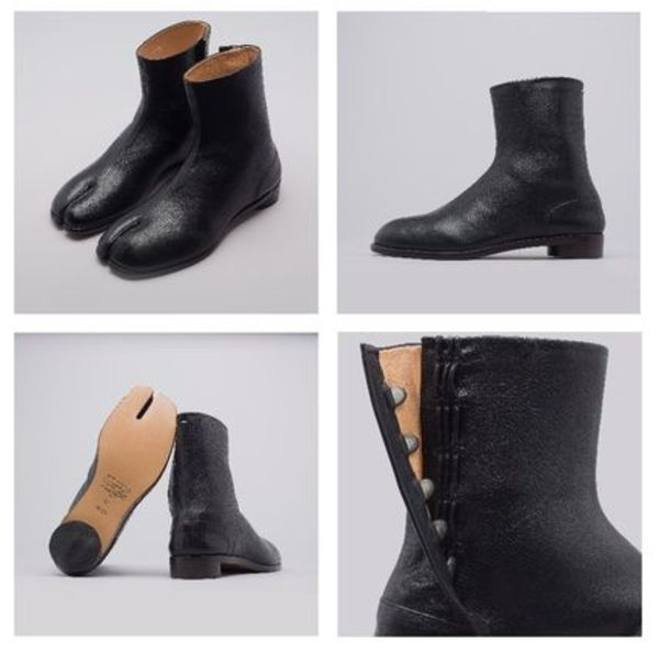 世界的ブーム!!Maison Margiela Flat Tabi Boot in Black