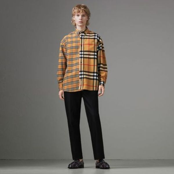 ★新作 Gosha x Burberry Check Flannel Shirt
