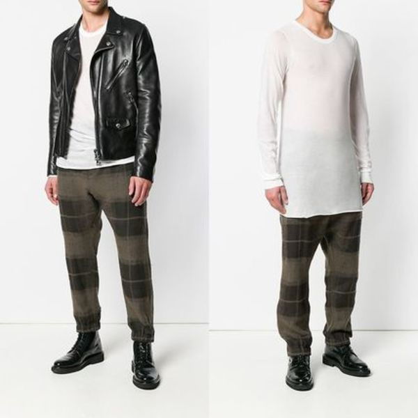 ∞∞RICK OWENS∞∞ oversized long sleeve Tシャツ☆ホワイト
