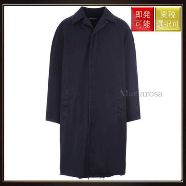 【バレンシアガ】Oversize Twill Cotton Trench OneColor