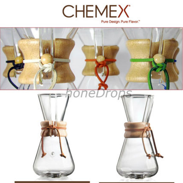 お洒落!Chemex 3-Cup Pour-Over Glass Coffee Maker