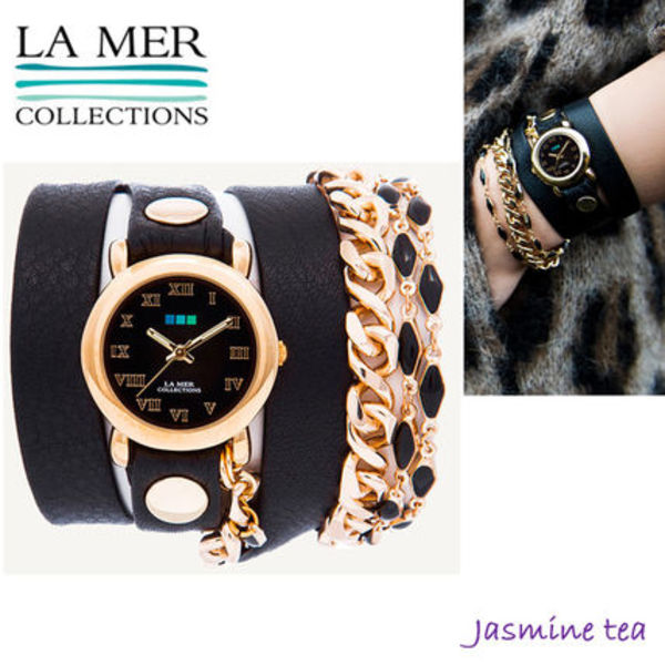 ★大人気!★LA MER COLLECTIONS Black Magic Chain Watch★