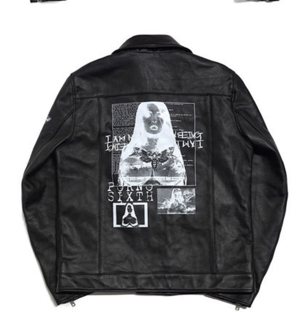 I AM NOT A HUMAN BEING 未入荷Porno 6 Rider Jacket - Black