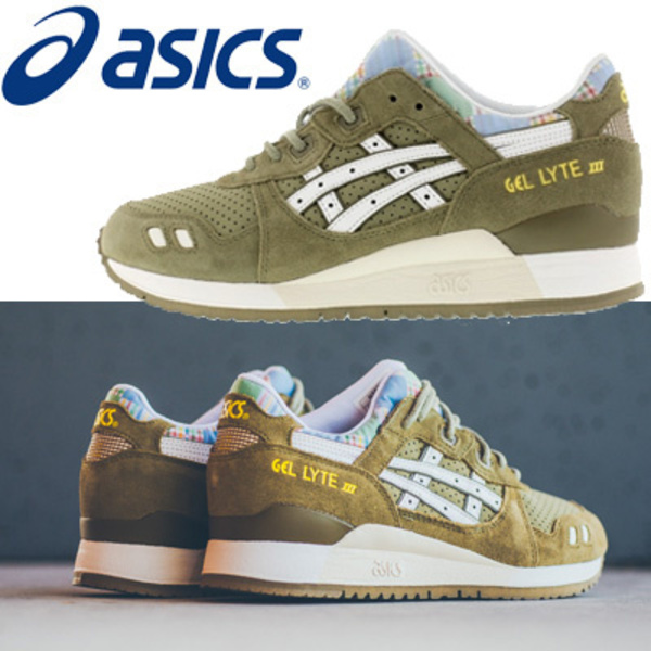●asics● GEL-LYTE Ⅲ H587L-8501 Light Olive/White 即発