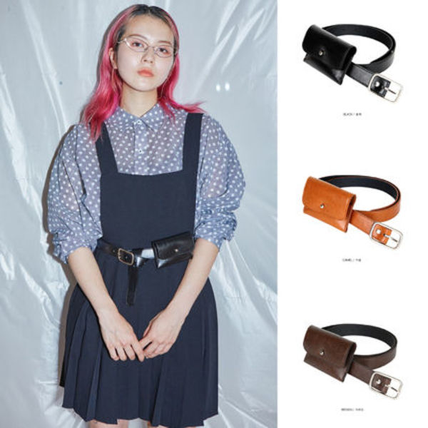 【OPENTHEDOOR】mini wallet belt (3 color)
