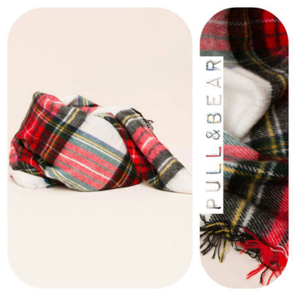 【期間限定】PULL & BEAR♪CHECKED FOULARD★