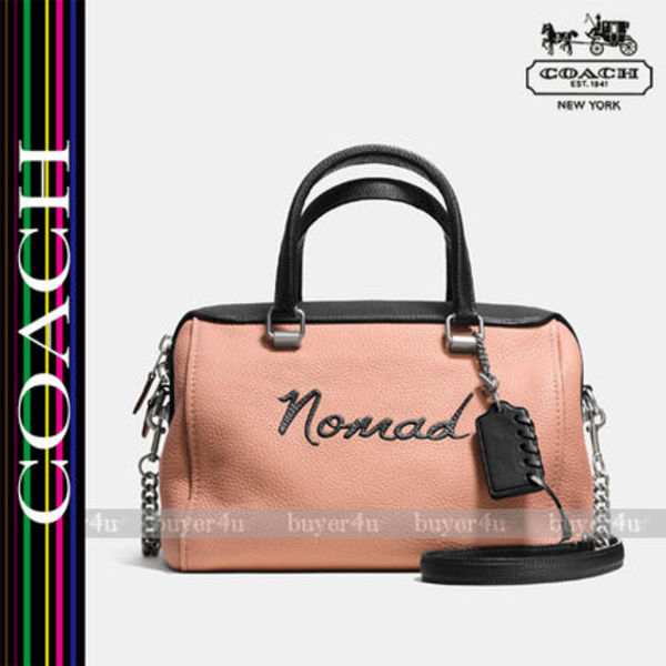 COACH★セール価格☆NOMAD SURREY SATCHEL PEBBLE LEATHER♪