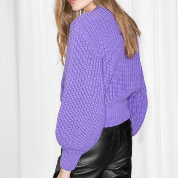 """& Other Stories""Chunky Rib Knit Sweater Purple"