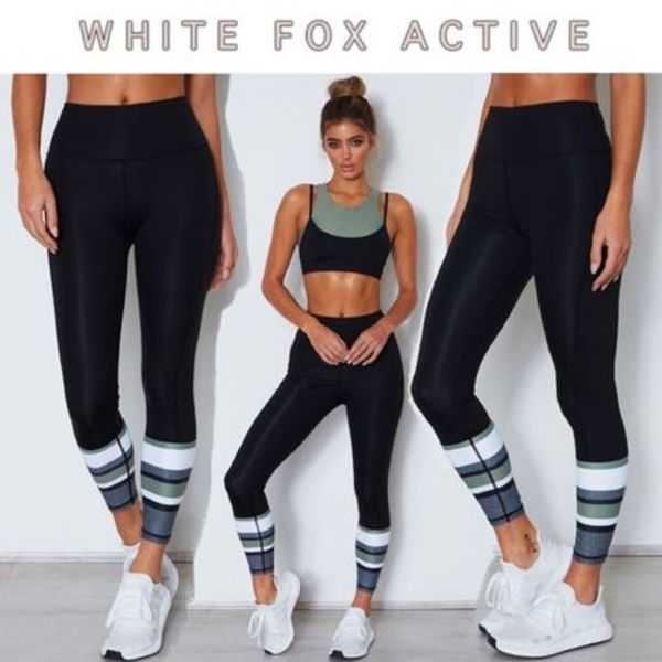 【WhiteFoxActive】SARAH'S DAY プリントレギンス Olive
