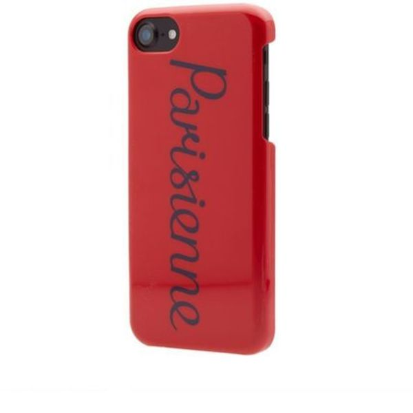 即配★MAISON KITSUNE 17SS IPHONE CASE PARISIENNE 赤 在庫僅少