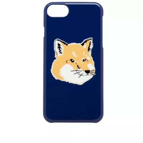 即配★MAISON KITSUNE 18SS IPHONE CASE FOX HEAD ネイビー 人気