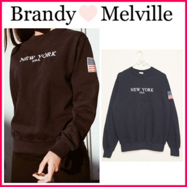 ☆新作*日本未入荷☆Brandy Melville☆NEW YORK SWEATSHIRT
