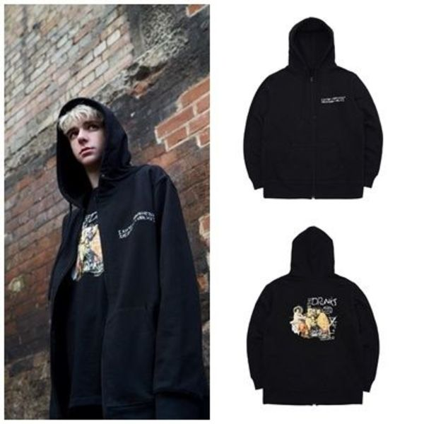 I AM NOT A HUMAN BEINGの[18SS] BACCHUS DOODLE ZIP-UP HOODIE