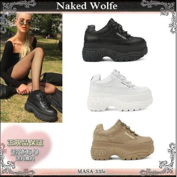 19AW☆送料込【Naked Wolfe】 SPORTY レザー厚底スニーカー