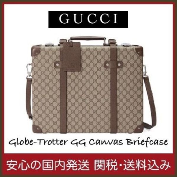 【国内発送】Globe-Trotter GG Canvas Briefcaseセール