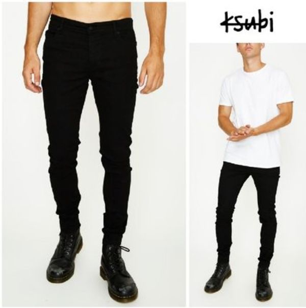 【KSUBI】スキニー&コンフォートVan Winkle Jean Black Rebel