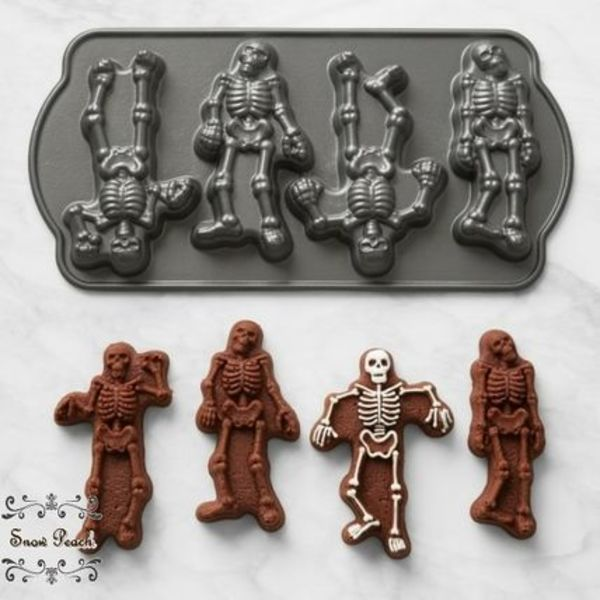 送料関税込◆Williams Sonoma☆ガイコツ型!Skeleton Cakelet Pan