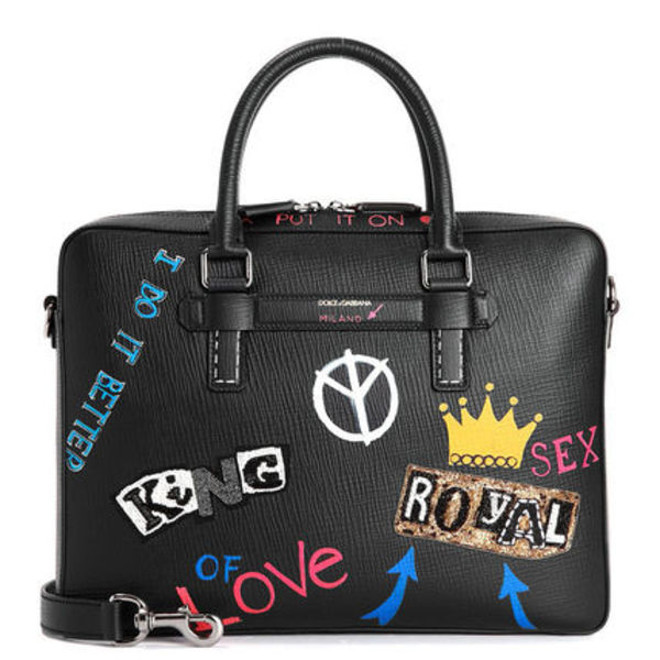 DOLCE&GABBANA Graffiti Patch 2WAYトート/ブリーフケース