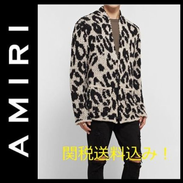 セール!関税送料無料★AMIRI★Boucle-Knit Wool-Blend Cardigan