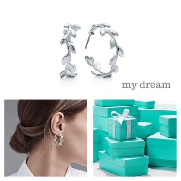 【Tiffany & Co】Paloma Picasso Olive Leaf Hoop Earrings