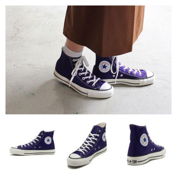最短翌日お届け!!CONVERSE CANVAS ALL STAR J HI PURPLE