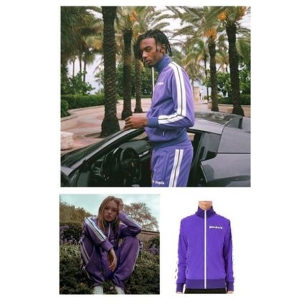 完売必須!! Palm Angels PURPLE TRACK JACKET