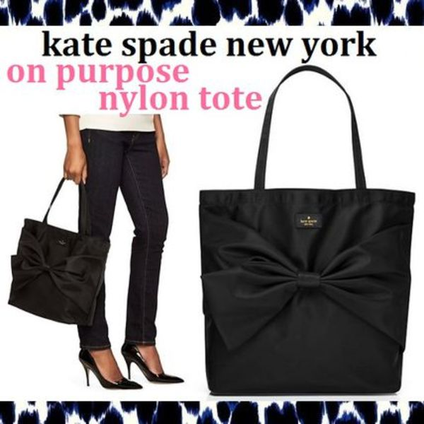 kate spade on purpose ナイロン リボントート