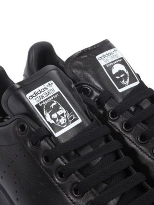 Raf Simons × Adidas Stan Smith Lace Up Sneaker ★ Black