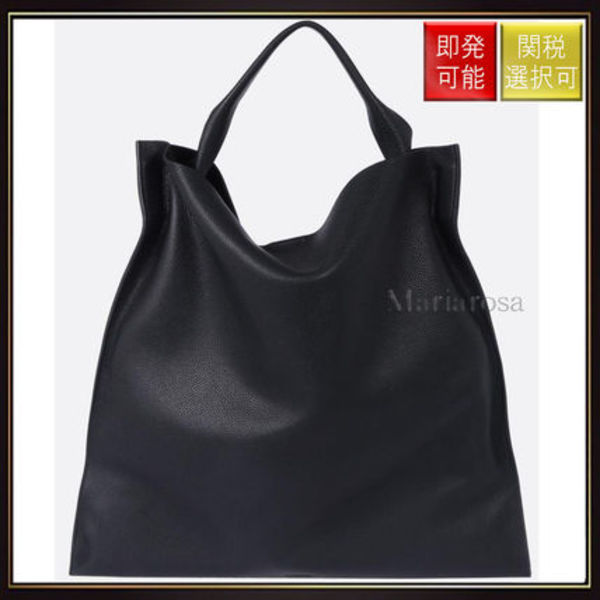 【ジルサンダー】Grained Leather Tote Black