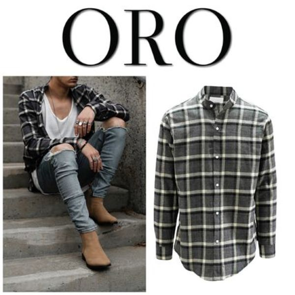 【ORO LOS ANGELES】☆新作☆ THE MIDNIGHT BRUSH PLAID SHIRT