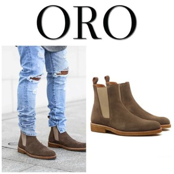 【ORO LOS ANGELES】☆新作☆ THE CEDAR CREPE CHELSEA BOOTS