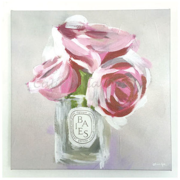 Oliver Gal Rose Candle キャンバスアート