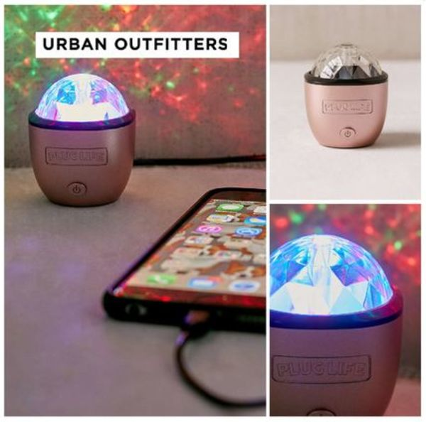 UrbanOutfitters☆Rose Gold iPhone Disco Light☆税送込