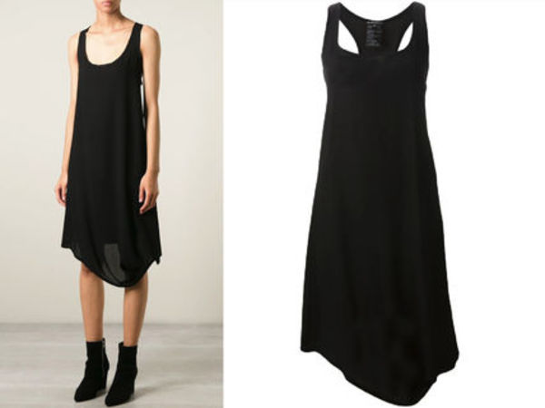 15SS AN002 ANN DEMEULEMEESTER asymmetric tank dress