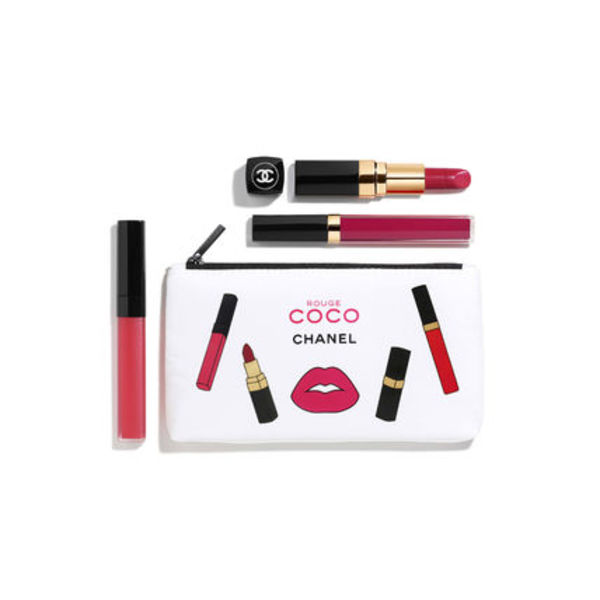 コフレ【Chanel】限定 ポーチ 付 Pick Pink Rouge Coco Trio 3点