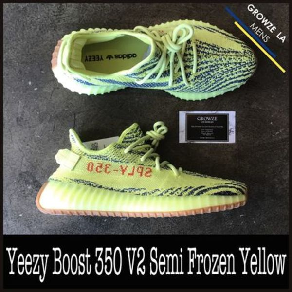 ★【adidas】US9 27cm Yeezy Boost 350 V2 Semi Frozen Yellow