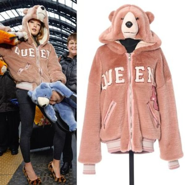 18-19AW DG1805 QUEEN BEAR OVERSIZED BOMBER JACKET