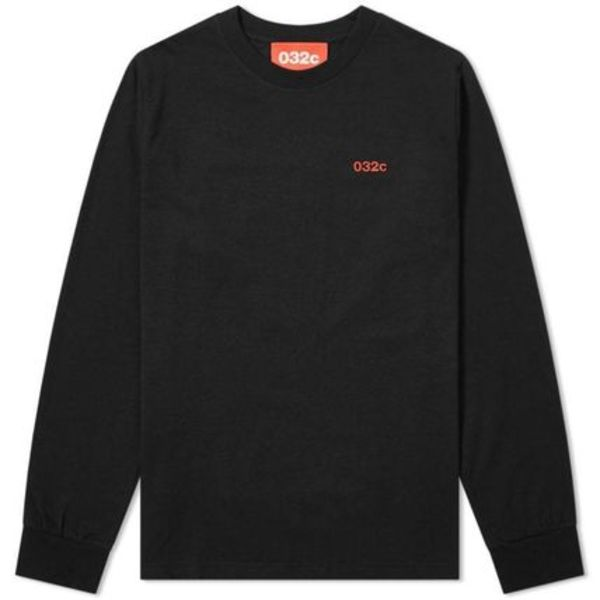 【関税・送料無料】 Long Sleeve Classic Embroidered Logo Tee