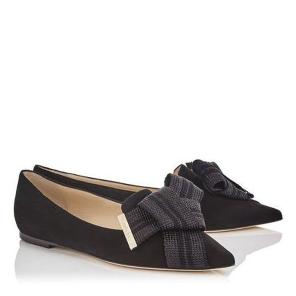 JIMMY★CHOO<最新もセール価格で>おしゃれGLEAM/FLAT/BLACK