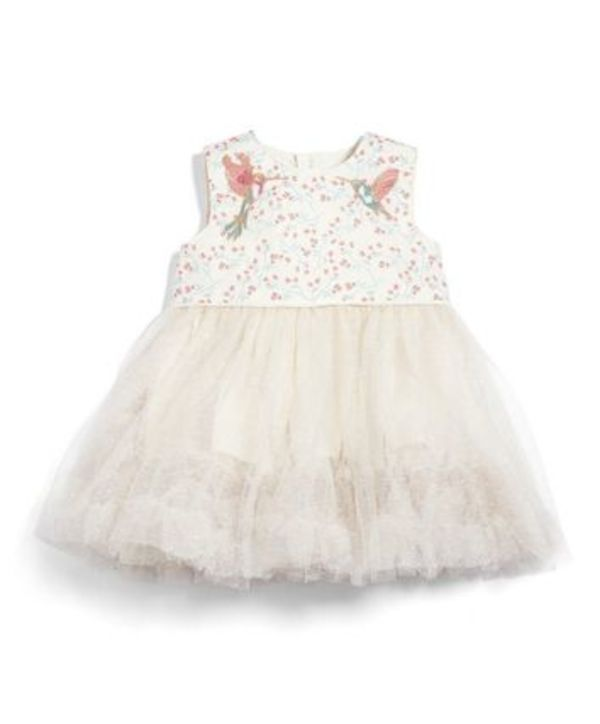 Mamas & Papas[ママス&パパス] Bird Embroidery Mesh Dress