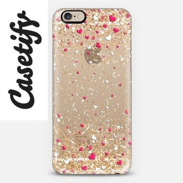 【送料込】☆Casetify GOLD PINK WHITE iPhoneクリアケース☆