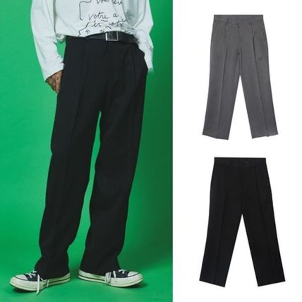 ☆OPEN THE DOOR☆ tidy pintuck wide slacks (2 color)