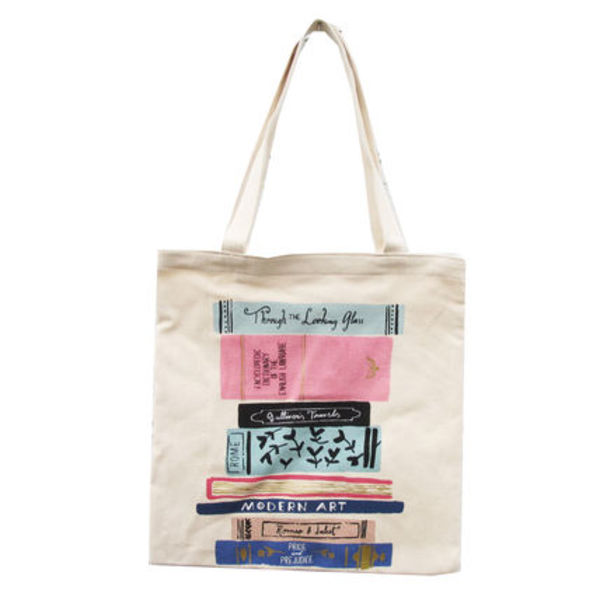 即納Kate spadeNY canvas book tote  STACK OF CLASSICS 184863